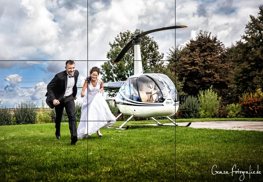 Drittelregel Linienführung Hochzeit