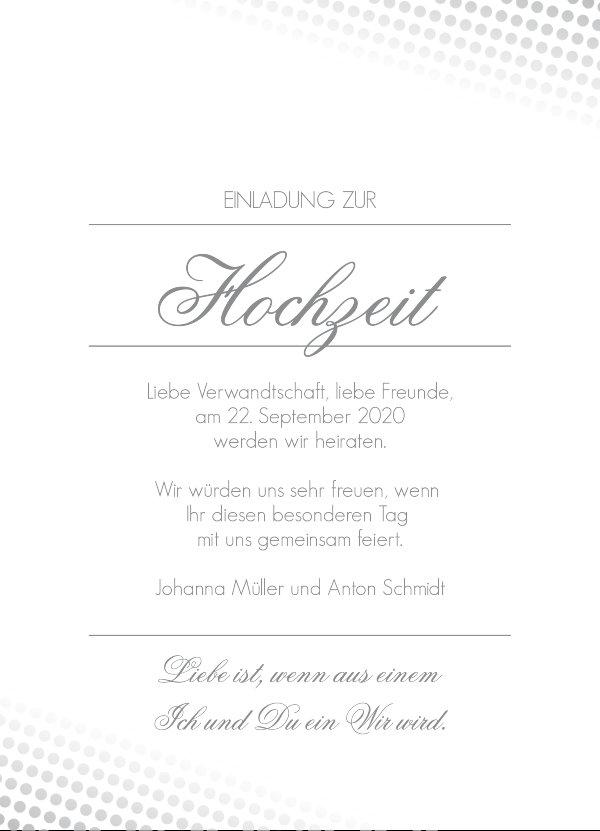 [one_third] Hochzeitseinladung   Elegante Pailletten