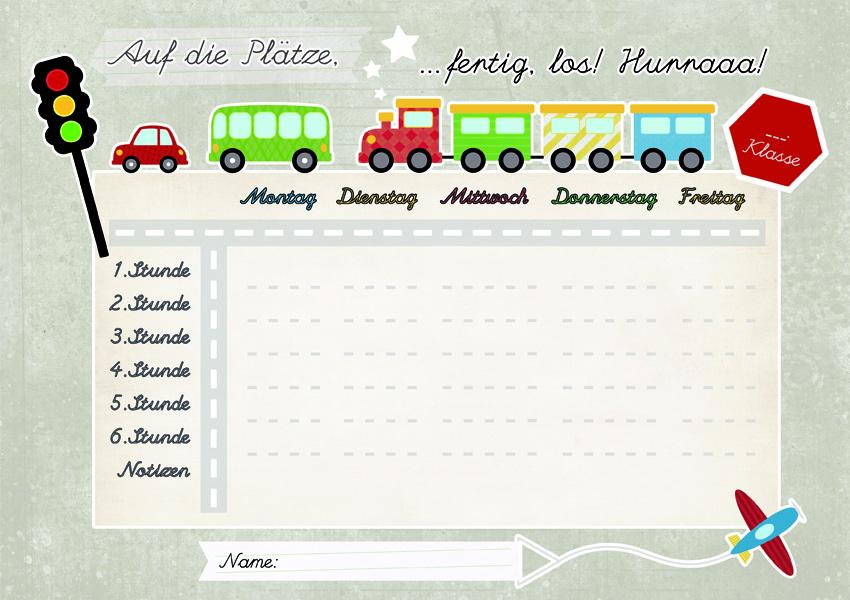 Stundenplan Fahrzeuge