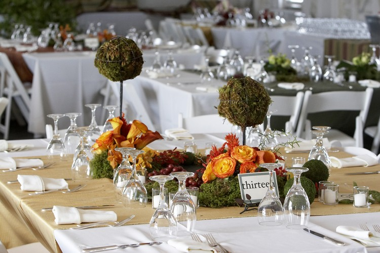 Herbst Tischdekoration Hochzeit