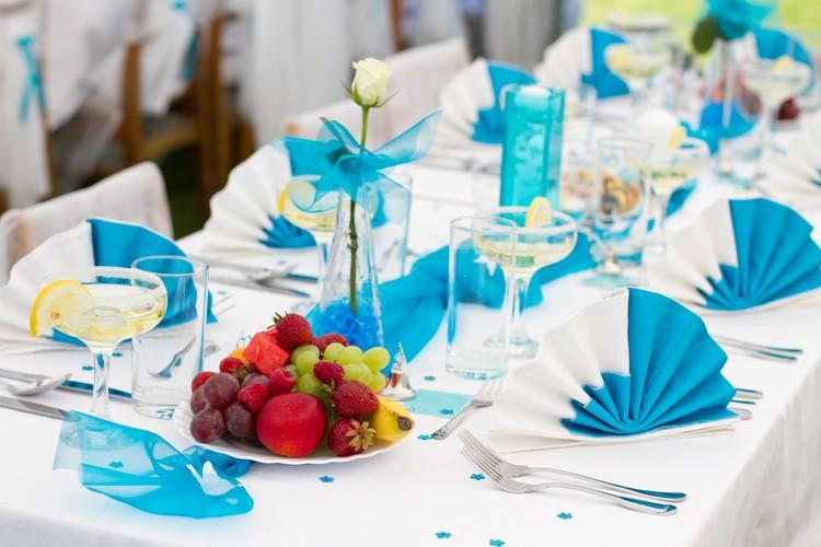 Karibische Tischdekoration Hochzeit