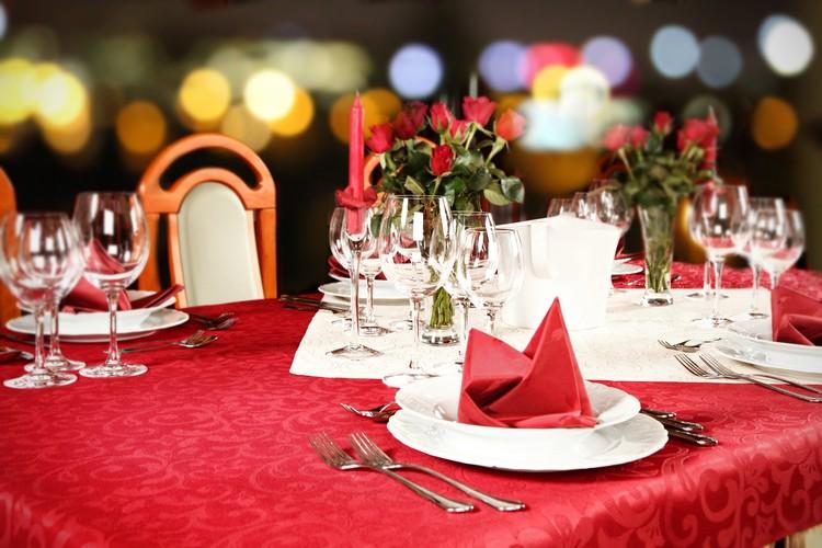 Romantische Tischdekoration Hochzeit